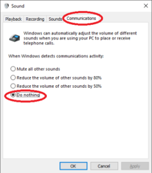 How To Stop Skype From Reducing Volume of Other Sounds In Calls With Windows 10