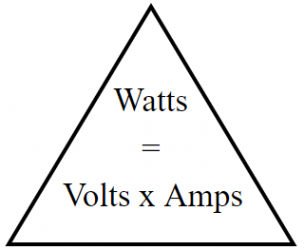 Volts Watts and Amps Conversion Calculator